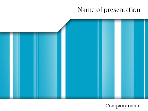 White blue lines Powerpoint template