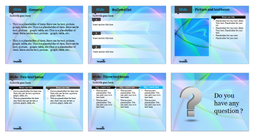 Blue fantasy Powerpoint template