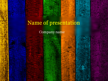 Wooden rainbow Powerpoint template
