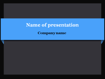 Blue bar Powerpoint template