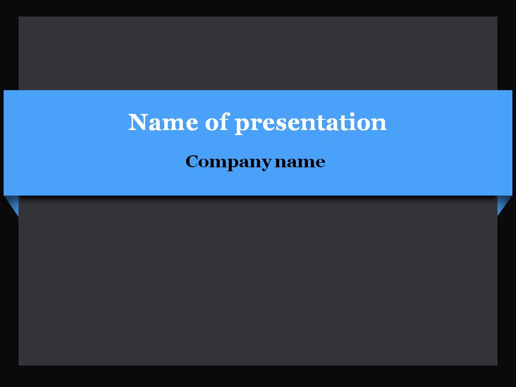 Blue bar powerpoint template presentation