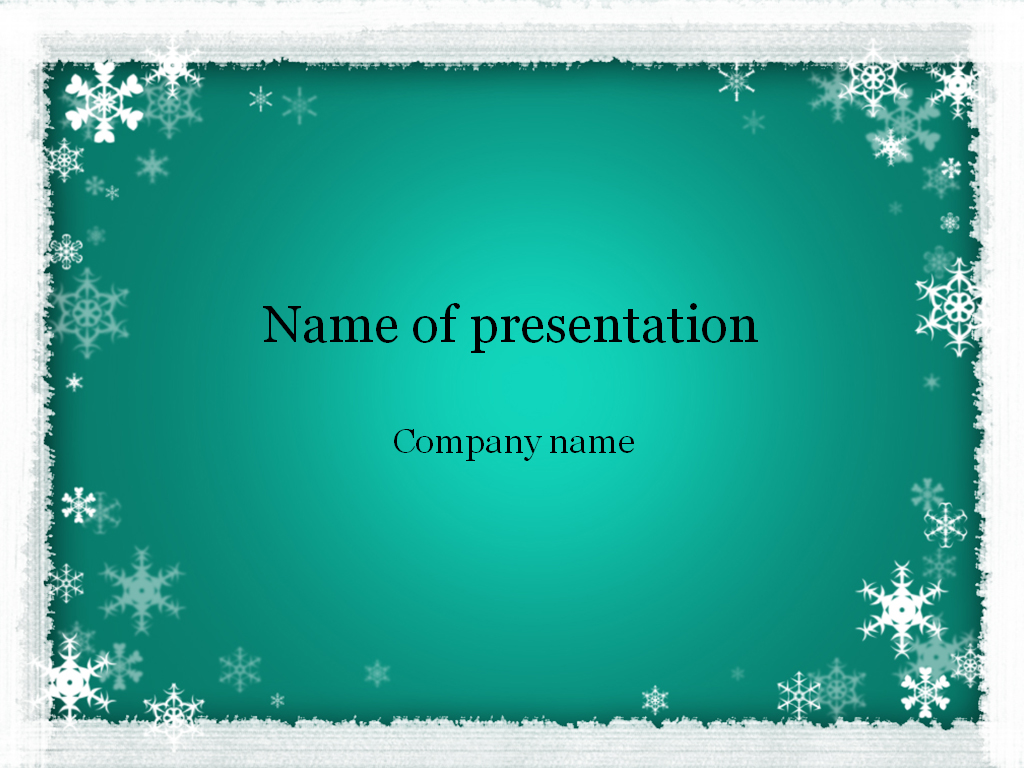 Download free Winter Powerpoint template for presentation – Winter Powerpoint Template