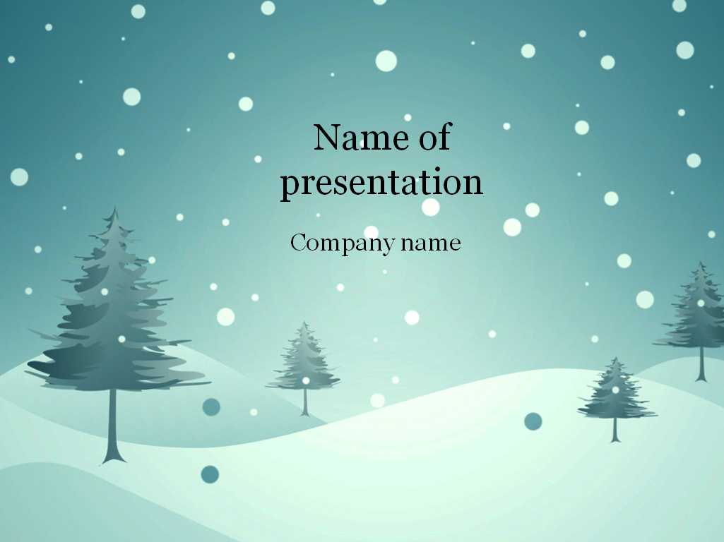 download free blue winter powerpoint template for presentation, Powerpoint templates