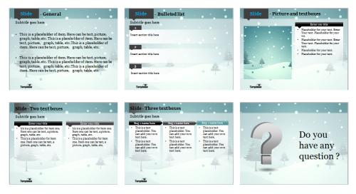 Blue winter Powerpoint template