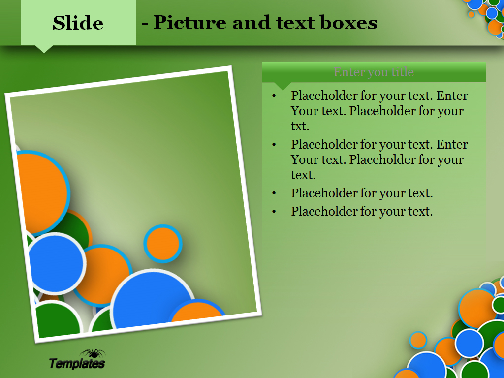 Funny bubbles powerpoint template presentation slide 3