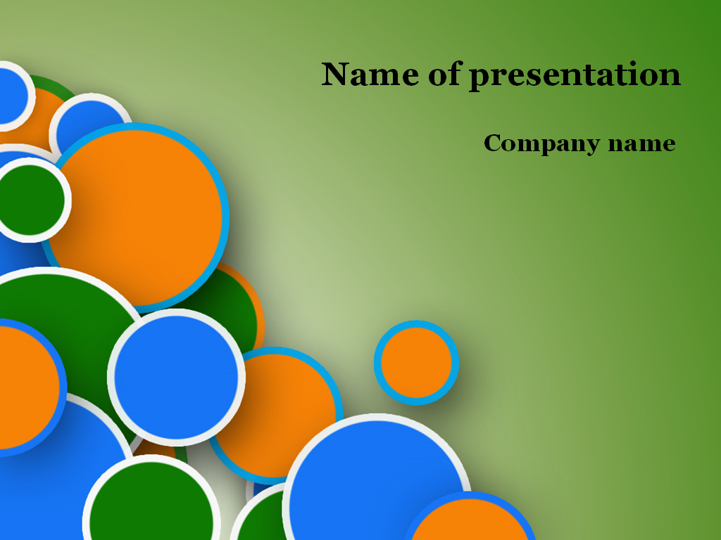 Funny bubbles powerpoint template presentation