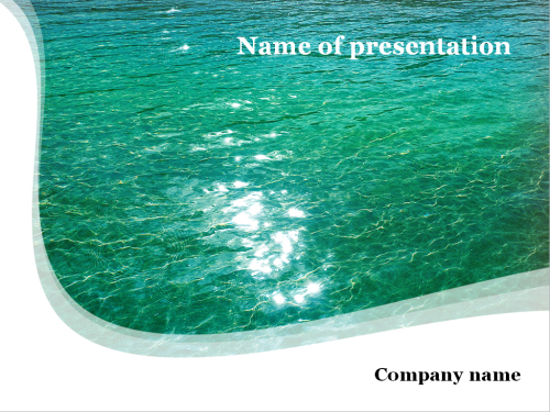 Green water Powerpoint template