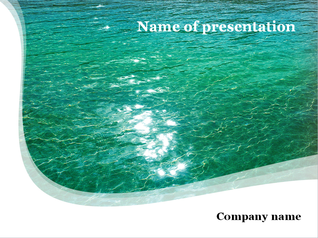 download free green water powerpoint template for presentation, Modern powerpoint