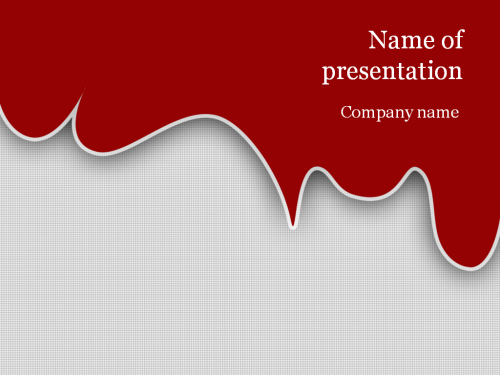 blood ppt templates free download - download free red blood powerpoint template for presentation