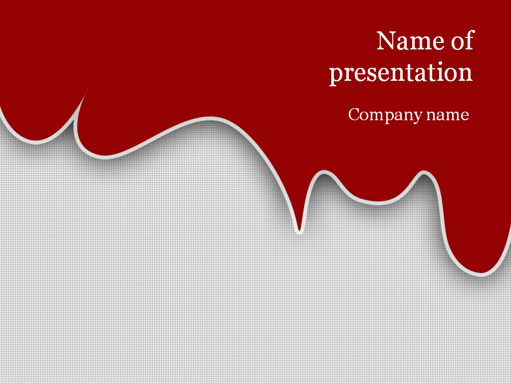 download free red blood powerpoint template for presentation, Powerpoint templates
