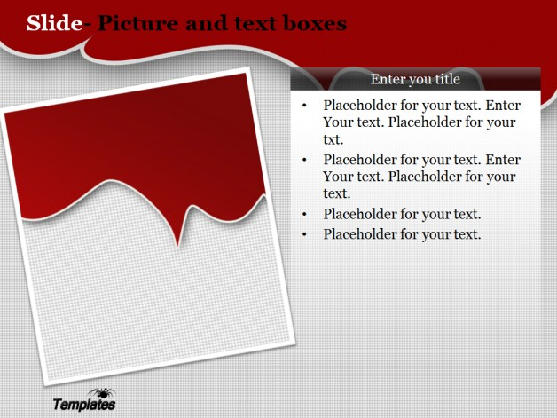 download free red blood powerpoint template for presentation
