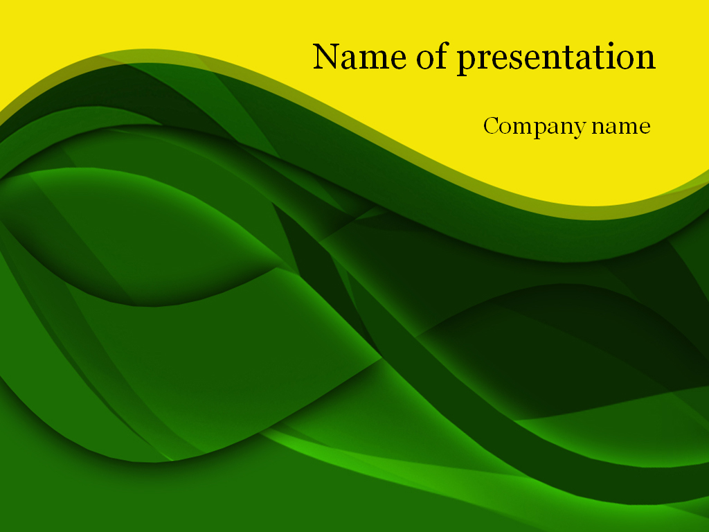 Download free green waves powerpoint template for presentation green waves powerpoint template toneelgroepblik Images