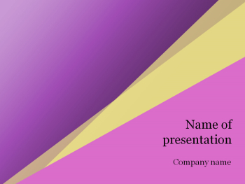 Pink yellow Powerpoint template