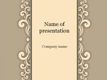 Sand ornament Powerpoint template