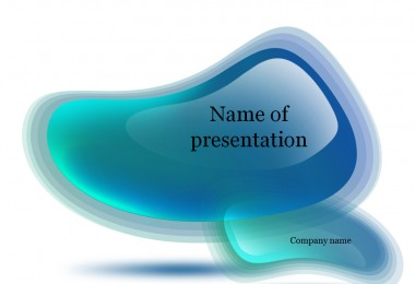 Blue drops Powerpoint template