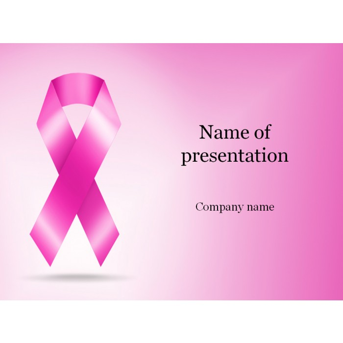 Cancer ribbon powerpoint template