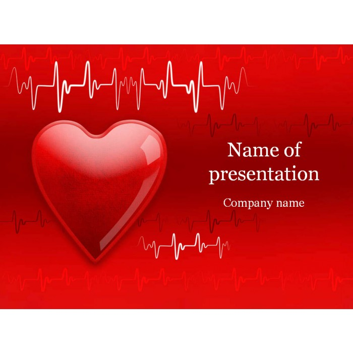 Heart cardiogram powerpoint template