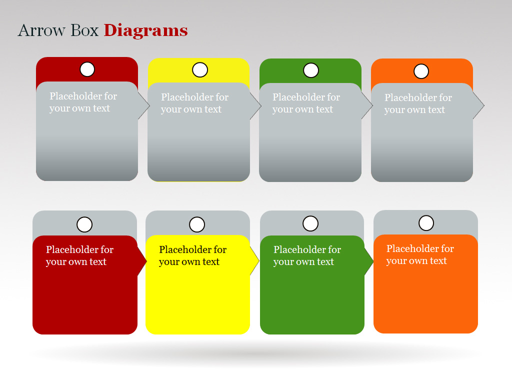 Arrow Box PowerPoint Charts and Diagrams presentation