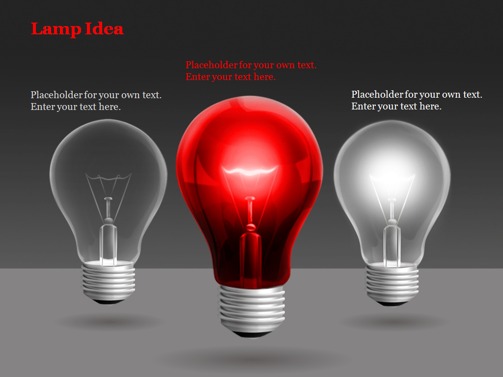 Lamp idea PowerPoint Charts and Diagrams presentation