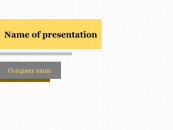 Yellow Bar PowerPoint template