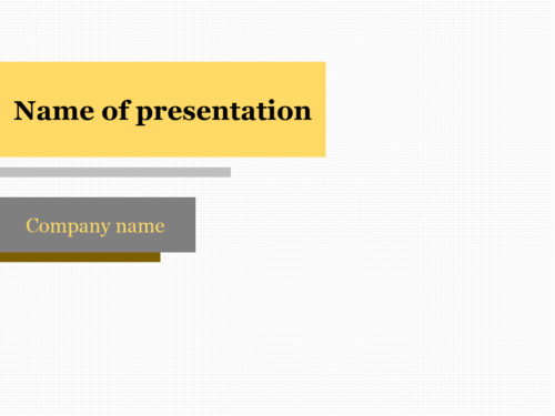 Download Free Yellow Bar Powerpoint Template For Presentation