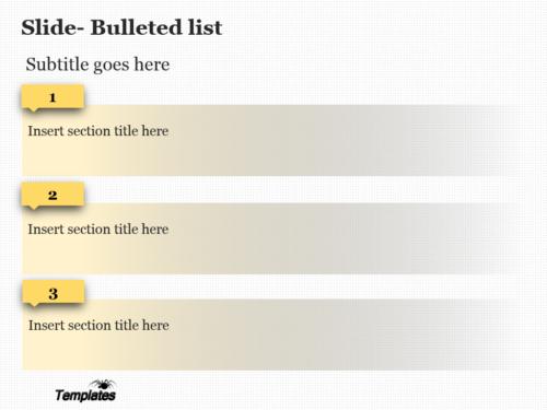 Yellow Bar PowerPoint template