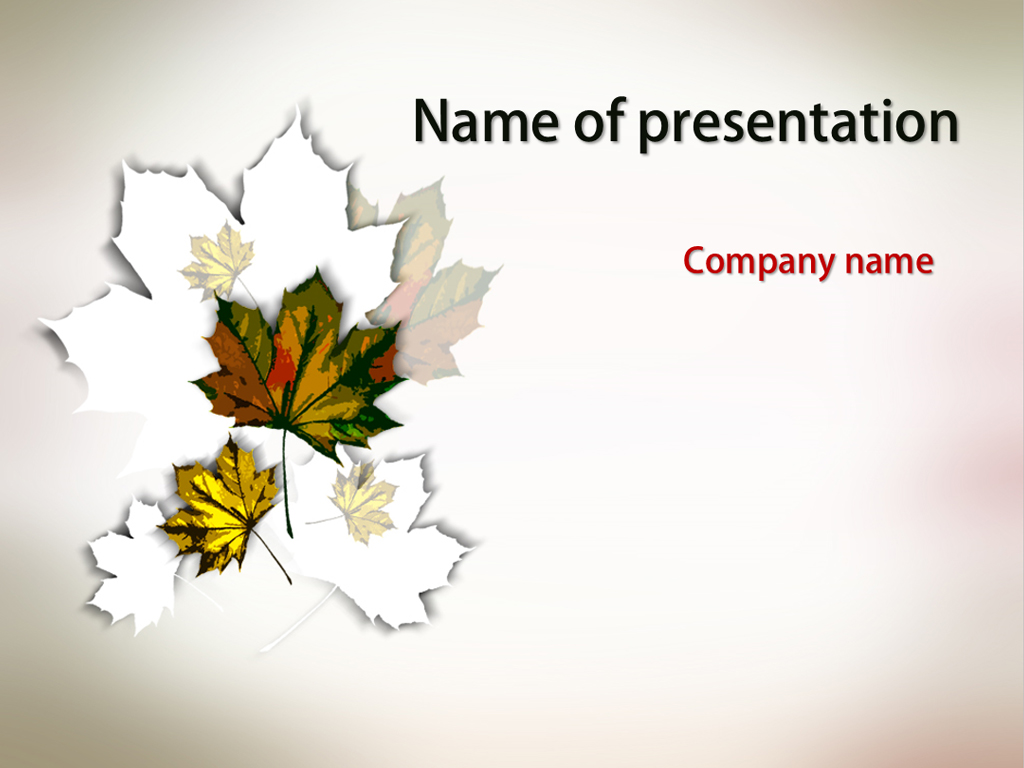 Autumn Maple powerpoint template presentation