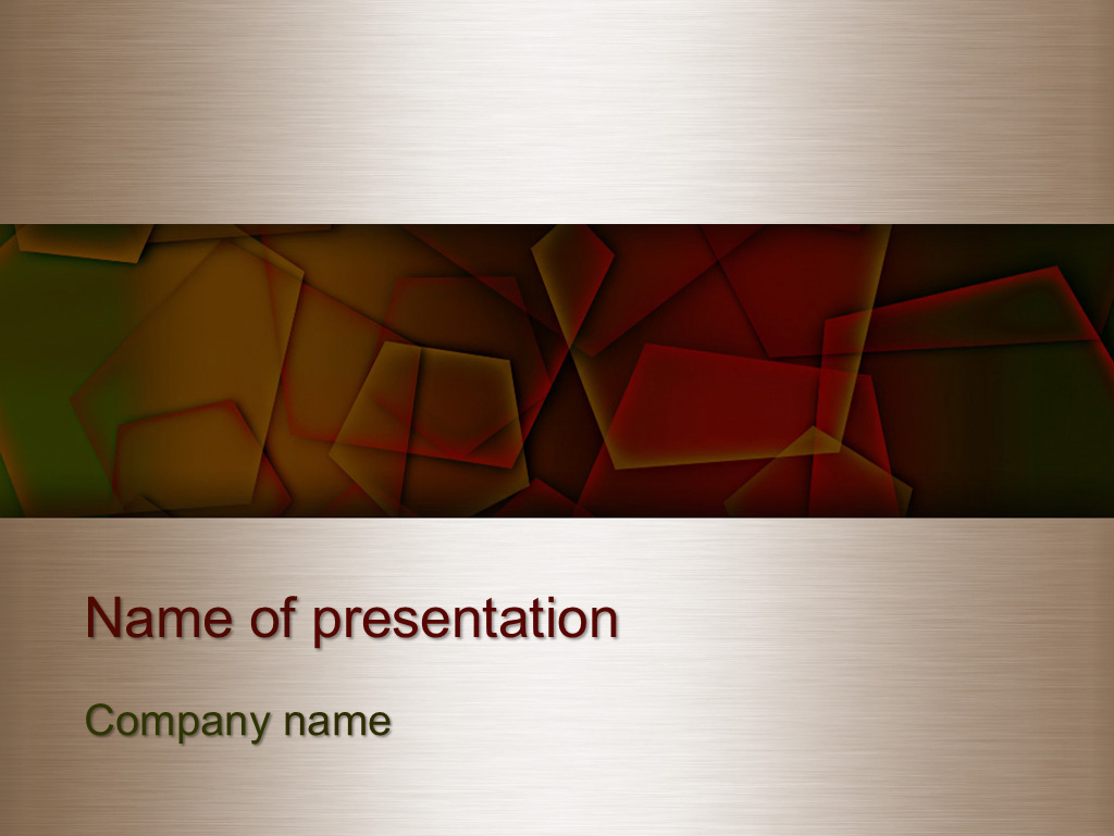 Free Autumn abstract colors-powerpoint template presentation