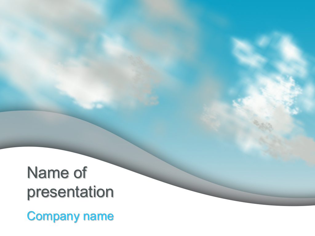 Free Cloudy Day powerpoint template presentation