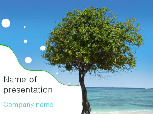 Sea Tree PowerPoint template