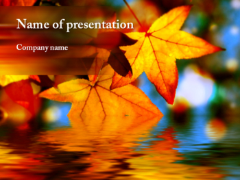 Yellow Maple PowerPoint template