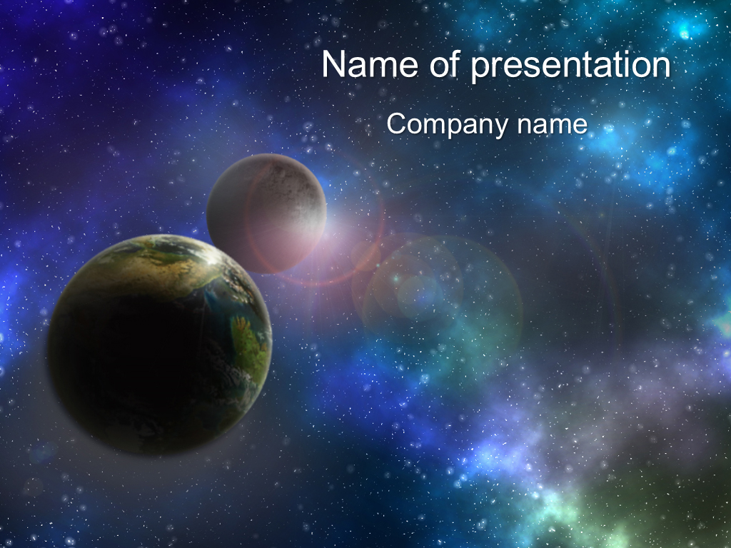 download free big planets powerpoint template for presentation