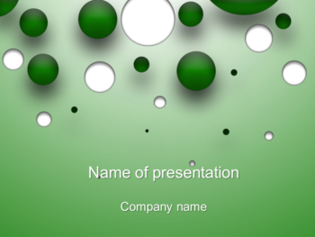 Bubble Game PowerPoint template