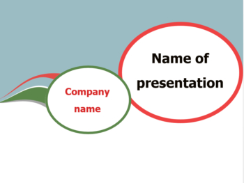 Communication Bubble PowerPoint template