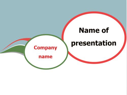 Communication Bubble PowerPoint template