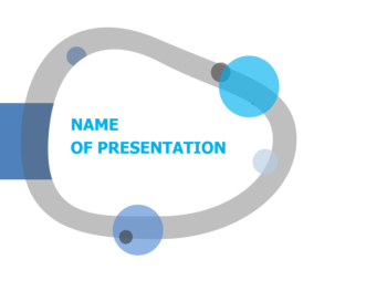 Curved Pool PowerPoint template