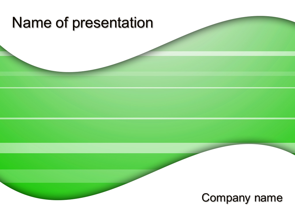 free green trend powerpoint template