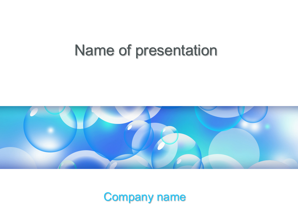 free liquid bubbles powerpoint template presentation