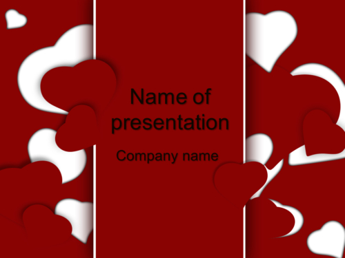 Loving Hearts PowerPoint template