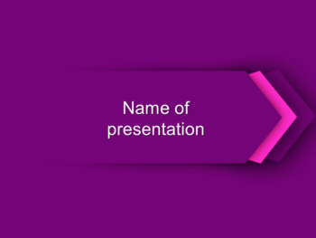 Purple Direction PowerPoint template