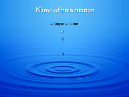 Download Free Water Motion Powerpoint Template For