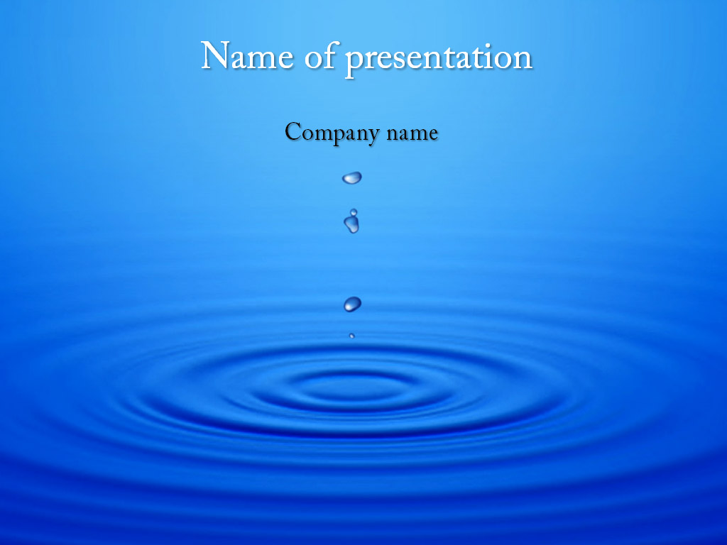 Download free Water Motion PowerPoint template for presentation