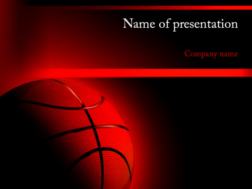 NBA Game PowerPoint template