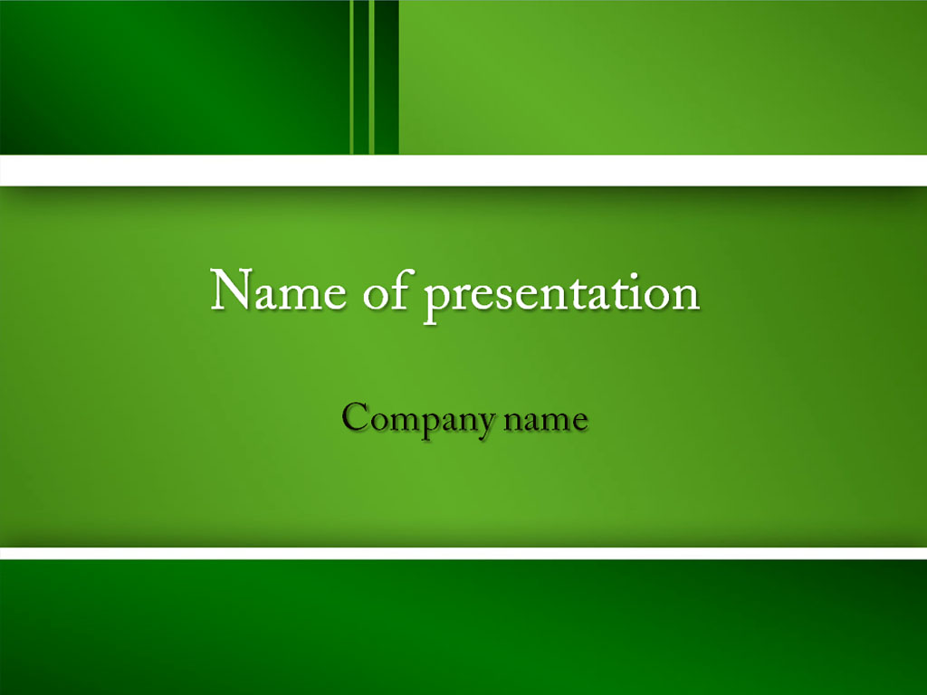 Download Free Green Feel Powerpoint Template For Presentation