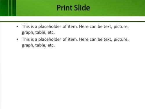 Green Feel PowerPoint template