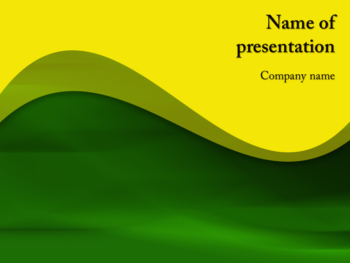 Green Waving PowerPoint template