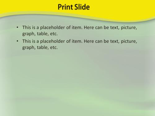 Green Waving PowerPoint template