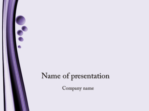 Small Bubbles PowerPoint template