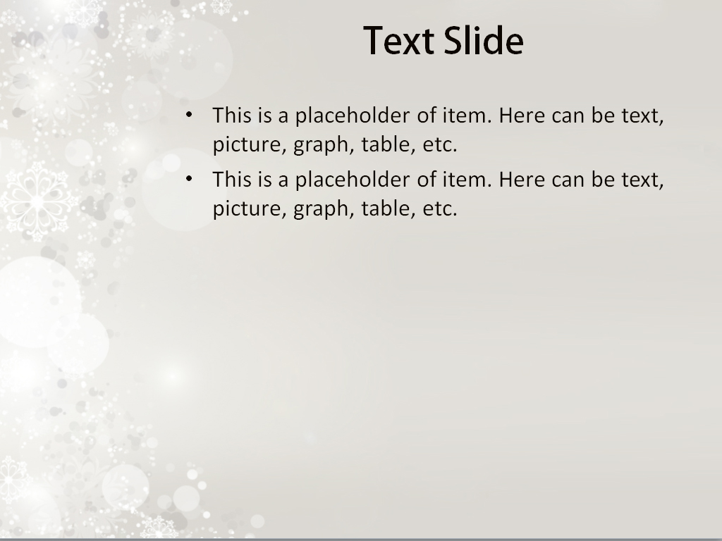 download free falling snow powerpoint template for presentation