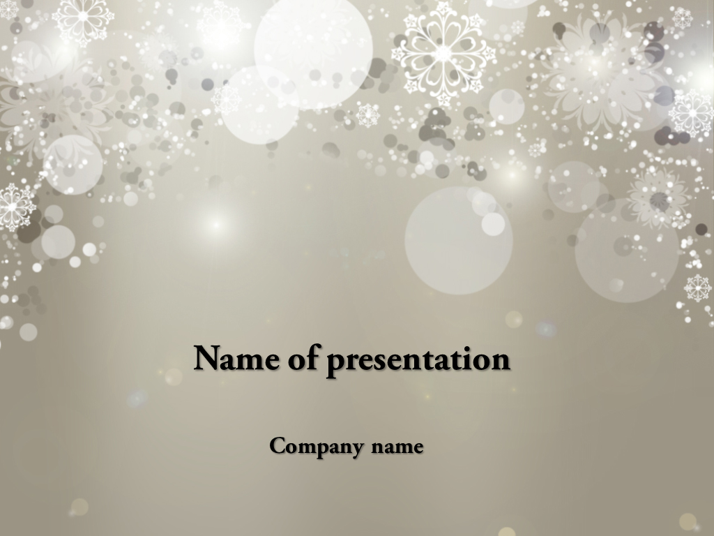 falling snow powerpoint template presentation